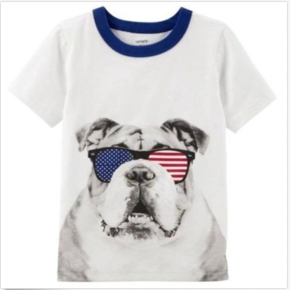 Carter's Other - Carter's Boys 4th of July BullDog Graphic Tee